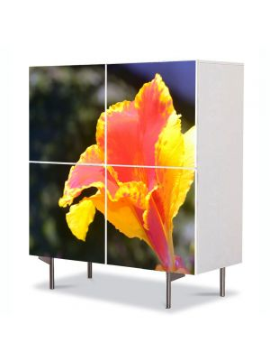 Comoda cu 4 Usi Art Work Flori Combinatie de culori aparte, 84 x 84 cm