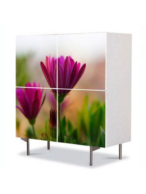 Comoda cu 4 Usi Art Work Flori Cateva flori, 84 x 84 cm