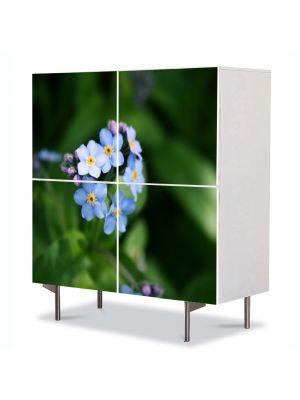 Comoda cu 4 Usi Art Work Flori Floare Nu ma uita, 84 x 84 cm