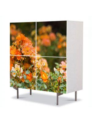 Comoda cu 4 Usi Art Work Peisaje Trandafiri salbatici, 84 x 84 cm
