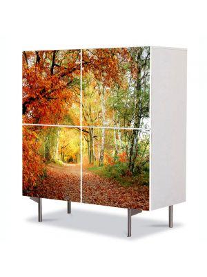 Comoda cu 4 Usi Art Work Peisaje Tunel, 84 x 84 cm