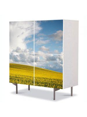 Comoda cu 4 Usi Art Work Peisaje Nori frumosi, 84 x 84 cm