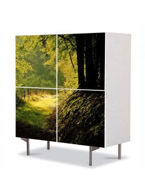Comoda cu 4 Usi Art Work Peisaje Poteca umbrita, 84 x 84 cm