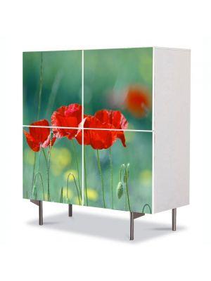 Comoda cu 4 Usi Art Work Peisaje Cativa prieteni, 84 x 84 cm