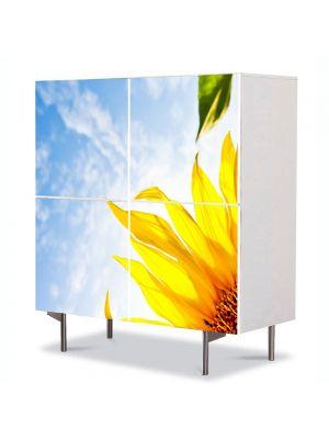 Comoda cu 4 Usi Art Work Peisaje Sora soarelui, 84 x 84 cm