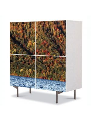 Comoda cu 4 Usi Art Work Peisaje Lac, 84 x 84 cm