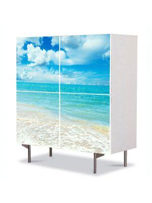 Comoda cu 4 Usi Art Work Peisaje Baie in mare, 84 x 84 cm