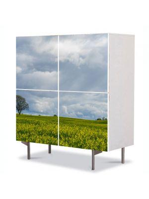 Comoda cu 4 Usi Art Work Peisaje Inorat, 84 x 84 cm