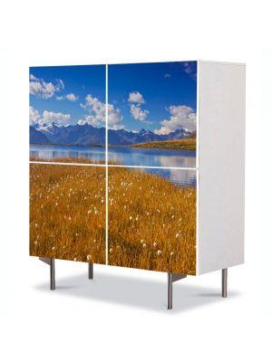 Comoda cu 4 Usi Art Work Peisaje Mal, 84 x 84 cm