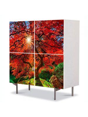 Comoda cu 4 Usi Art Work Peisaje Suprarealist, 84 x 84 cm