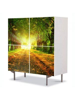 Comoda cu 4 Usi Art Work Peisaje Lumini fantastice, 84 x 84 cm
