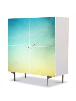 Comoda cu 4 Usi Art Work Peisaje In zare, 84 x 84 cm