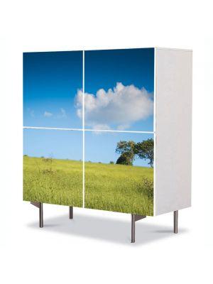 Comoda cu 4 Usi Art Work Peisaje Peisaj, 84 x 84 cm