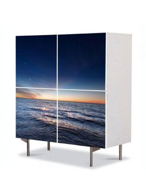 Comoda cu 4 Usi Art Work Peisaje Degrade, 84 x 84 cm