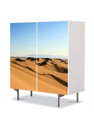 Comoda cu 4 Usi Art Work Peisaje Dune in desert, 84 x 84 cm