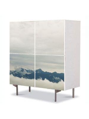 Comoda cu 4 Usi Art Work Peisaje Creste peste nori, 84 x 84 cm