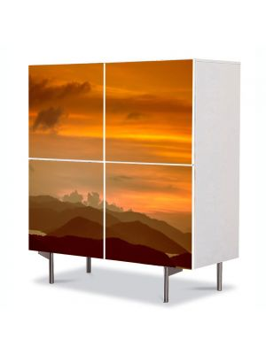 Comoda cu 4 Usi Art Work Peisaje Amurg, 84 x 84 cm