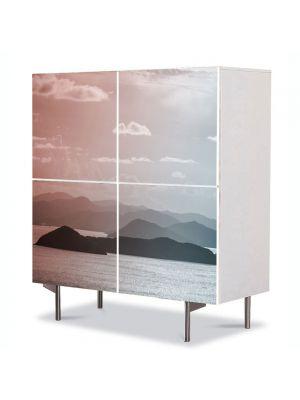 Comoda cu 4 Usi Art Work Peisaje Insulite, 84 x 84 cm