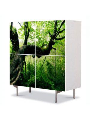 Comoda cu 4 Usi Art Work Peisaje Jungla, 84 x 84 cm