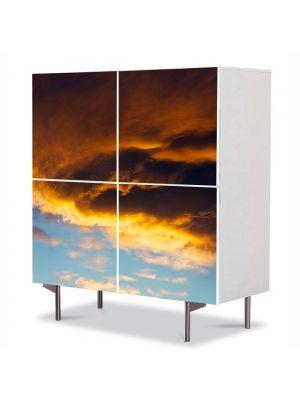 Comoda cu 4 Usi Art Work Peisaje Va ploua, 84 x 84 cm