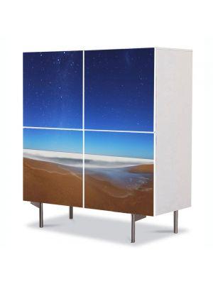 Comoda cu 4 Usi Art Work Peisaje Apar stelele, 84 x 84 cm