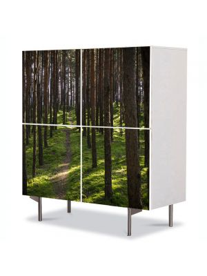 Comoda cu 4 Usi Art Work Peisaje Poteca, 84 x 84 cm