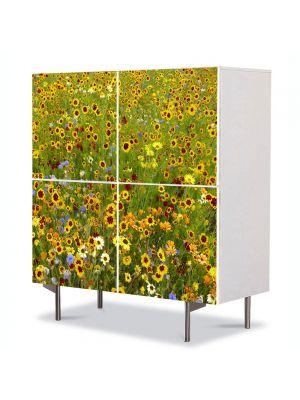 Comoda cu 4 Usi Art Work Peisaje Stropi de culoare, 84 x 84 cm
