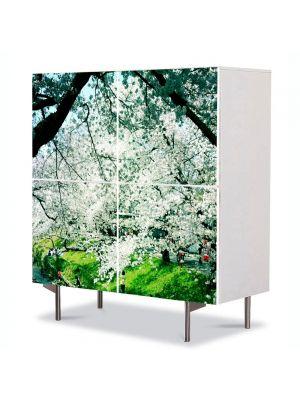 Comoda cu 4 Usi Art Work Peisaje Peisaj de primavara, 84 x 84 cm