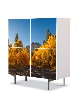 Comoda cu 4 Usi Art Work Peisaje Prin Canada, 84 x 84 cm