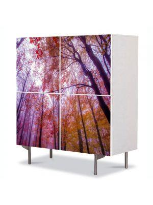 Comoda cu 4 Usi Art Work Peisaje Maretie, 84 x 84 cm