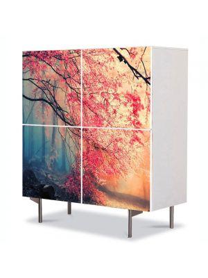 Comoda cu 4 Usi Art Work Peisaje Rece, cald, 84 x 84 cm