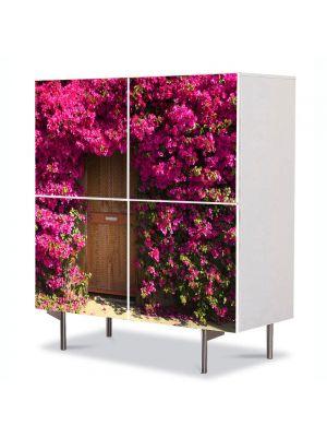 Comoda cu 4 Usi Art Work Peisaje Poarta de flori, 84 x 84 cm