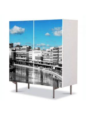 Comoda cu 4 Usi Art Work Urban Orase Oras, 84 x 84 cm