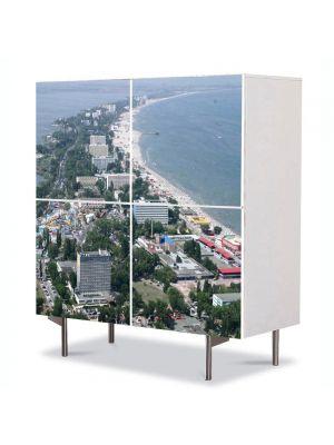 Comoda cu 4 Usi Art Work Urban Orase Constanta Romania, 84 x 84 cm
