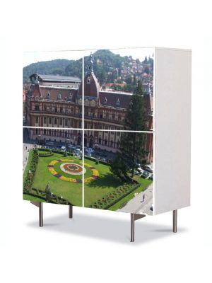 Comoda cu 4 Usi Art Work Urban Orase Brasov Romania, 84 x 84 cm