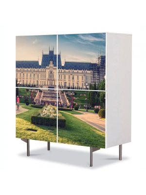 Comoda cu 4 Usi Art Work Urban Orase Palatul Culturii din Iasi, 84 x 84 cm