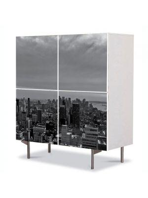 Comoda cu 4 Usi Art Work Urban Orase In centrul New York ului, 84 x 84 cm