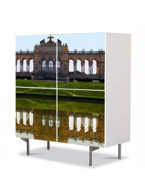 Comoda cu 4 Usi Art Work Urban Orase Viena Austria, 84 x 84 cm