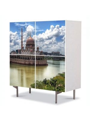 Comoda cu 4 Usi Art Work Urban Orase Moschee in Kuala Lumpur, 84 x 84 cm