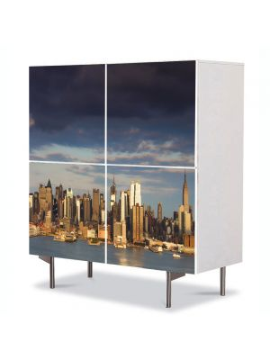 Comoda cu 4 Usi Art Work Urban Orase New York, 84 x 84 cm