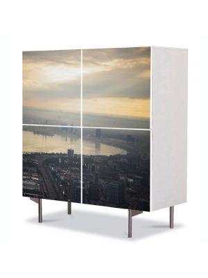 Comoda cu 4 Usi Art Work Urban Orase Ontario Canada, 84 x 84 cm