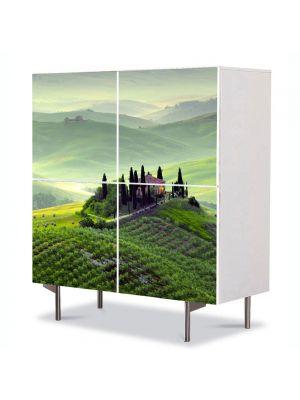 Comoda cu 4 Usi Art Work Urban Orase Toscana Italia, 84 x 84 cm