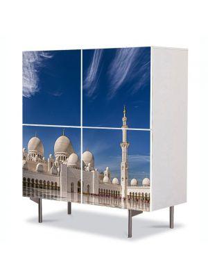 Comoda cu 4 Usi Art Work Urban Orase Moschee in Abu Dhabi, 84 x 84 cm