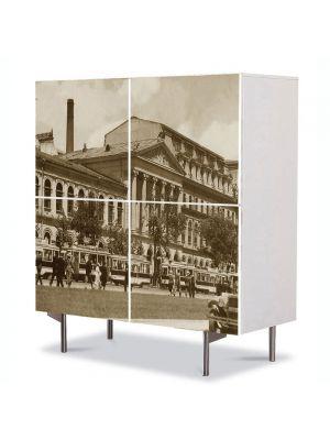 Comoda cu 4 Usi Art Work Urban Orase Universitatea Bucuresti, 84 x 84 cm