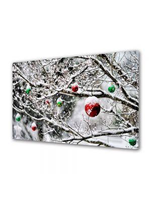 Tablou Canvas Iarna Globuri in copac