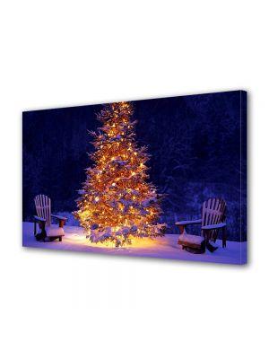 Tablou Canvas Iarna Brad luminos