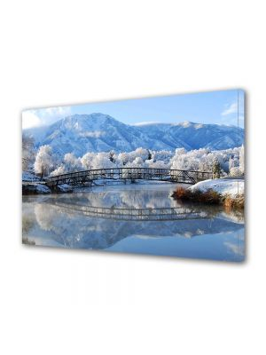 Tablou Canvas Iarna Pod peste lac