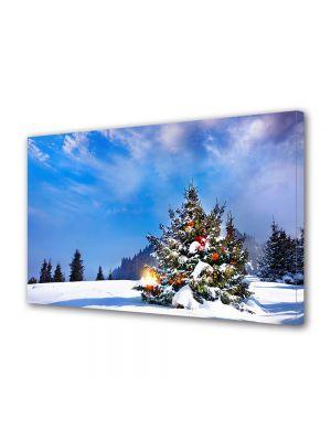 Tablou Canvas Iarna Soare de Craciun