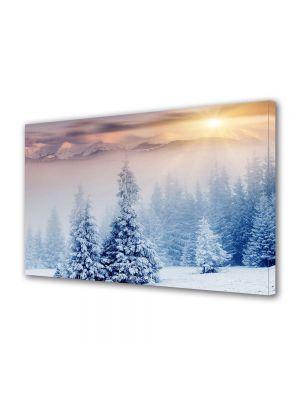Tablou Canvas Iarna Apus dupa nori