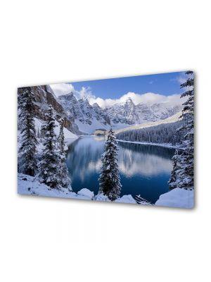Tablou Canvas Iarna Lacul oglinda
